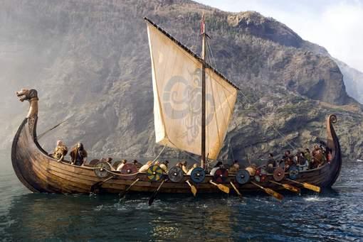 Vikings Segeln auf Fluss Dordogne